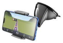 Univerzální držák s přísavkou Cellularline Pilot Embrace pro mobilní telefony, černá