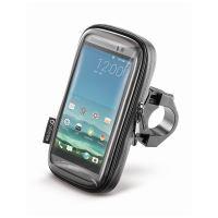 """Voděodolné pouzdro Interphone SMART pro telefony do velikosti 6,5"""", úchyt na řídítka, čern"""