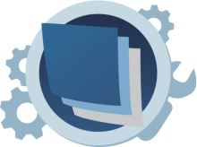 Univerzální pouzdro RedPoint Velvet, mikroplyš, motiv Stripe Blue, velikost L