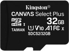 32GB microSDHC Kingston Canvas Select Plus  A1 CL10 100MB/s bez adapteru