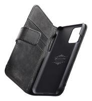 Prémiové kožené pouzdro typu kniha Cellularline Supreme pro Samsung Galaxy S20+, černé