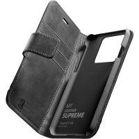 Cellularline Supreme kožené pouzdro Apple iPhone 13 černé